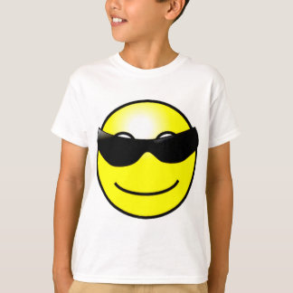 Cool Sunglasses Yellow Smiley Face T-Shirt