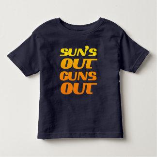COOL SUN'S OUT GUNS OUT TODDLER T-SHIRT