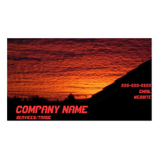 Cool sunset business card