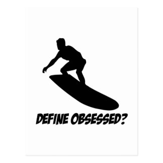 Cool surf designs postcard