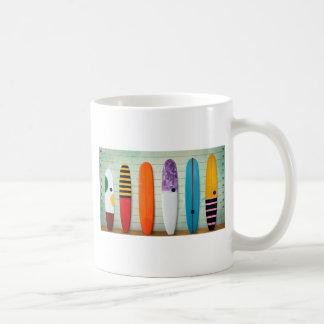 Cool Surfboard Lineup Design Coffee Mug