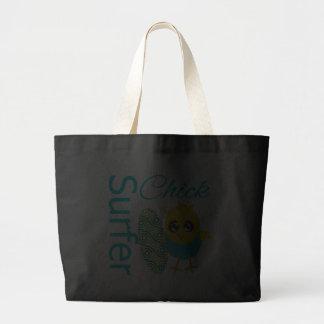 Cool Surfer Chick Jumbo Tote Bag