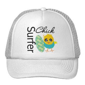 Cool Surfer Chick Trucker Hat