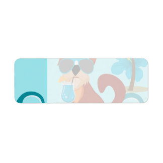 Cool Surfer Dog Surfboard Summer Beach Party Fun Custom Return Address Labels
