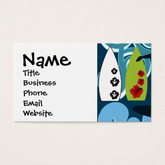 Cool Surfer Dude Surfing Beach Ocean Design Business Card