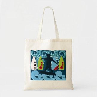 Cool Surfer Dude Surfing Beach Ocean Design Tote Bag