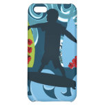 Cool Surfer Dude Surfing Beach Ocean Surf Waves iPhone 5C Cases