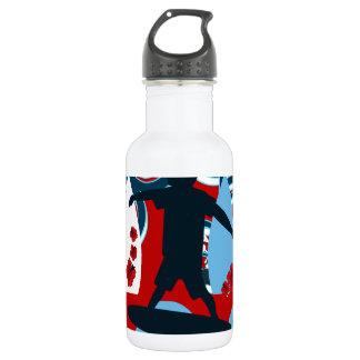 Cool Surfer Dude Surfing Beach Ocean Wave Surf Stainless Steel Water Bottle