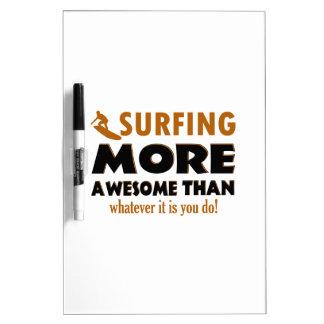 Cool Surfing designs Dry Erase Board
