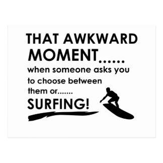 Cool Surfing designs Postcard