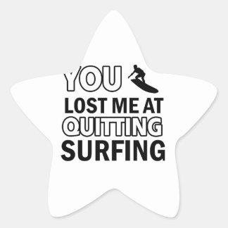 Cool Surfing designs Star Sticker