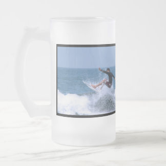 Cool Surfing Frosted Beer Mug