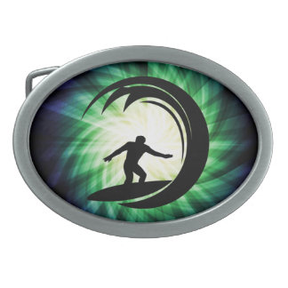 Cool Surfing Oval Belt Buckle