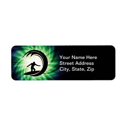 Cool Surfing Return Address Label