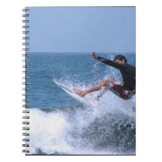 Cool Surfing Spiral Notebooks