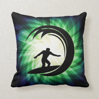Cool Surfing Throw Pillow