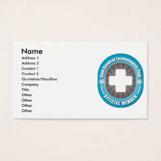 Cool Surgical Technologists Club Business Card