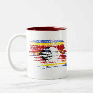 Cool Swazi flag design Two-Tone Coffee Mug