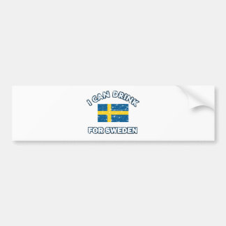 Cool Sweden Drinking Designs Bumper Sticker