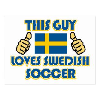 cool Swedish soccer fan DESIGNS Postcard