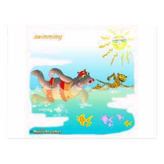 Cool swiiming gifts for kids postcard