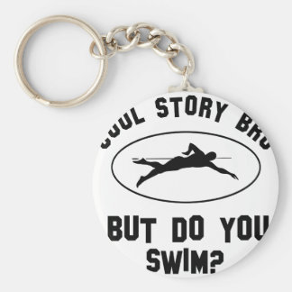 cool swimming designs key chains