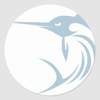 Cool Swordfish Icon Logo Shirt Classic Round Sticker
