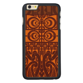 Cool symmetrical tribal Marquesas tattoo design Carved® Maple iPhone 6 Plus Case