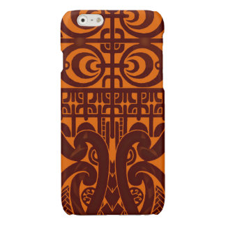 Cool symmetrical tribal Marquesas tattoo design Glossy iPhone 6 Case
