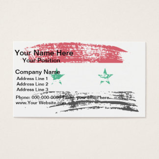 Cool Syrian flag design Business Card
