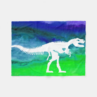 Cool T-rex Dinosaur Fleece Blanket
