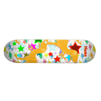 Cool T-Rex Dinosaur Skateboard with Your Name