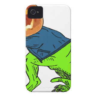 Cool T-Rex With a Jack O Lantern Head Case-Mate iPhone 4 Cases