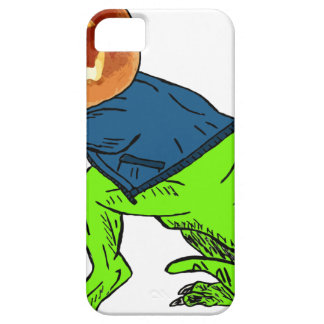 Cool T-Rex With a Jack O Lantern Head iPhone SE/5/5s Case