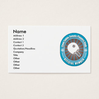 Cool Table Tennis Players Club Business Card