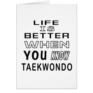 Cool Taekwondo Designs Card