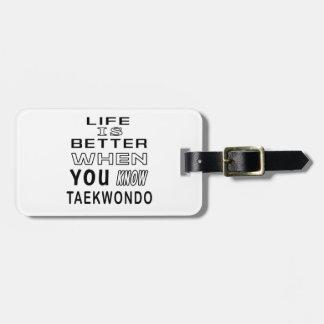 Cool Taekwondo Designs Tag For Luggage