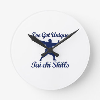 cool tai chi  designs round clock
