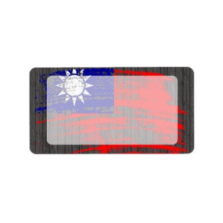 Cool Taiwanese flag design Label