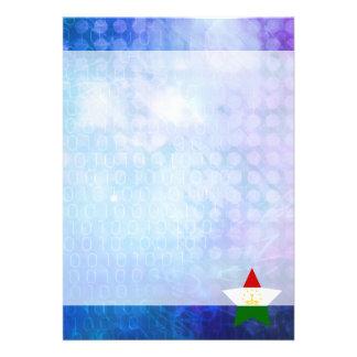 """Cool Tajikistan Flag Star 5"""" X 7"""" Invitation Card"""