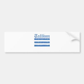 Cool tallinn city flag designs bumper sticker