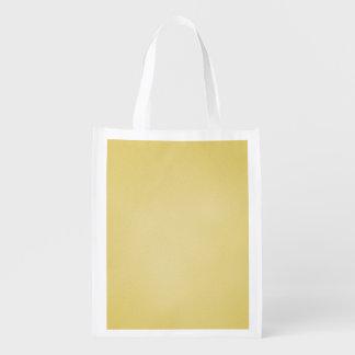 Cool Tan Grainy Look Grocery Bag