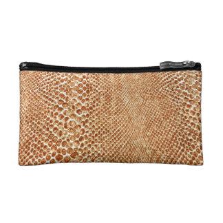 Cool Tan Snake Skin Pattern Photo Print Cosmetic Bags