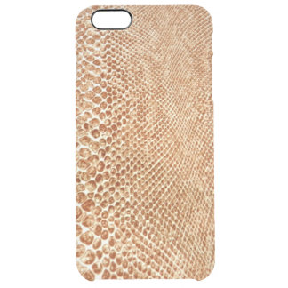 Cool Tan Snake Skin Pattern Photo Print Clear iPhone 6 Plus Case