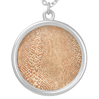 Cool Tan Snake Skin Pattern Photo Print Custom Jewelry