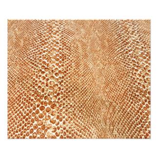 Cool Tan Snake Skin Pattern Photo Print