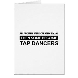 Cool Tap Dancing designs Greeting Cards
