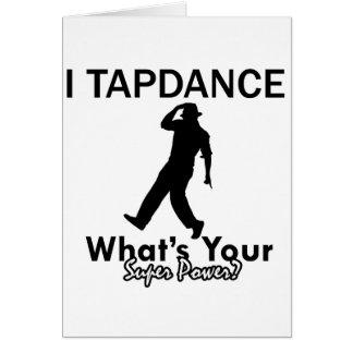 Cool Tapdance designs Greeting Card