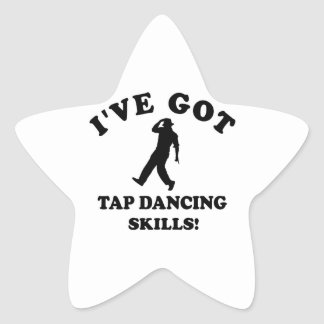Cool Tapdance designs Star Stickers