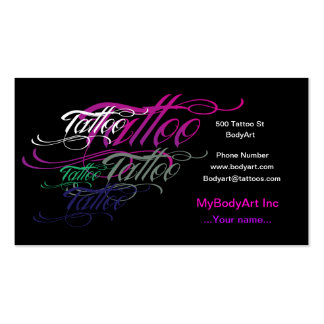 Cool Tattoo Business Card